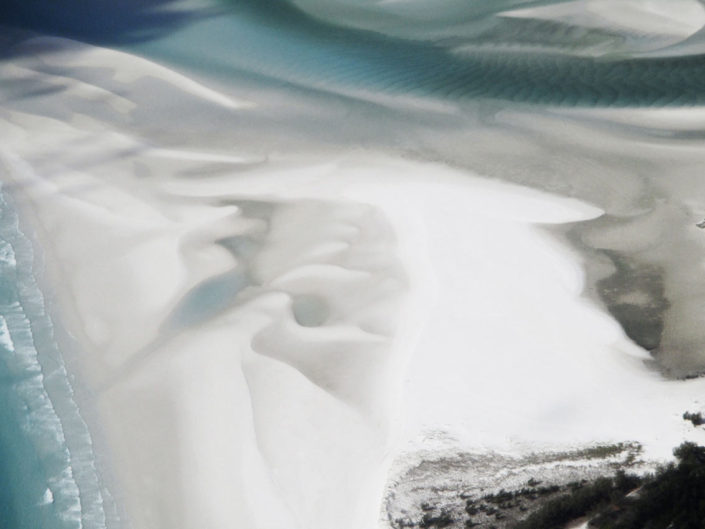 Une vue aérienne des îles whitesunday