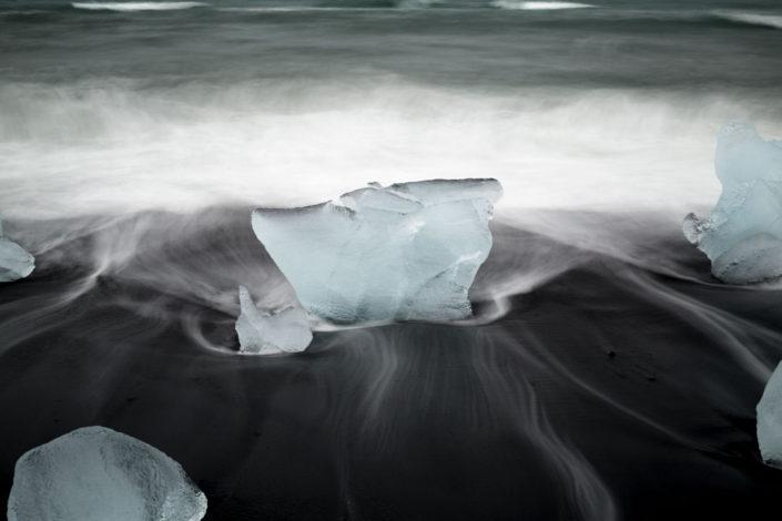 plage de jokulsarlon en islande