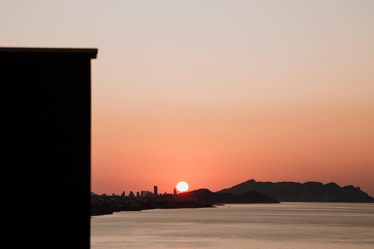 lever soleil sur benidorm
